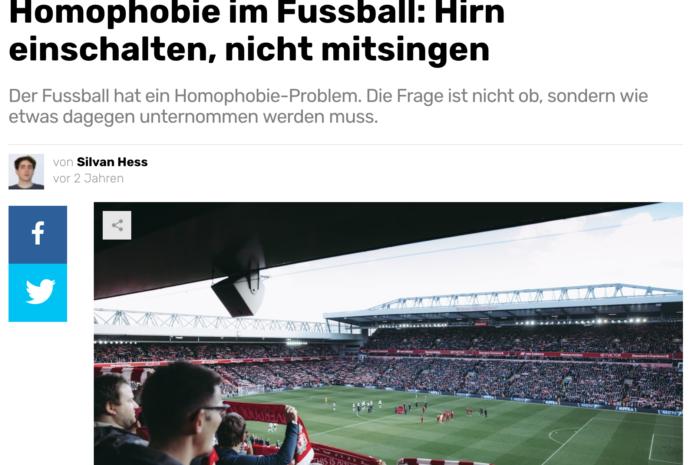 Homophobie im Fussball: «Hinhören statt mitsingen»